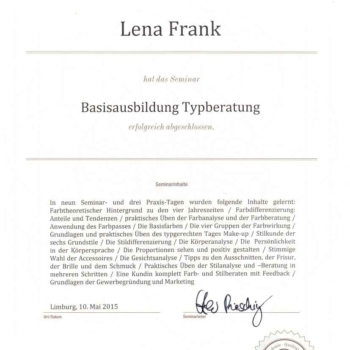 typberatung münchen, zertifikat typakademie